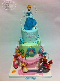 3 Tier Cinderella Cake