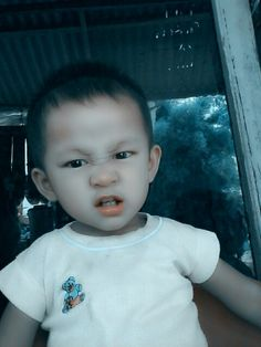 Angry kid face