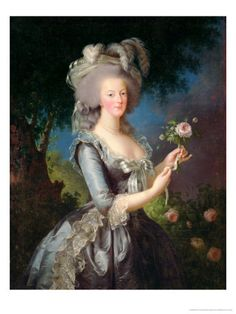 Marie Antoinette (1755-93) with a Rose, 1783 - Elisabeth Louise Vigee-LeBrun