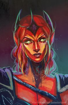 Jeu vidéo : The Elder Scrolls : Morrowind / Almalexia by ClownGuppi   / http://clownguppi.deviantart.com/art/Almalexia-601003642