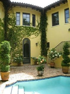 Ivy covered walls on this Old Spanish home in Coconut Grove, FL.