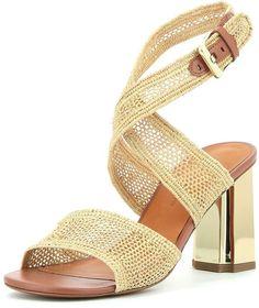 356ec72078ad Robert Clergerie Zorap Raffia Ankle-Wrap Sandal