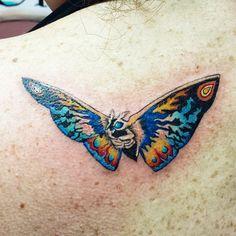 colorful mothra tattoo