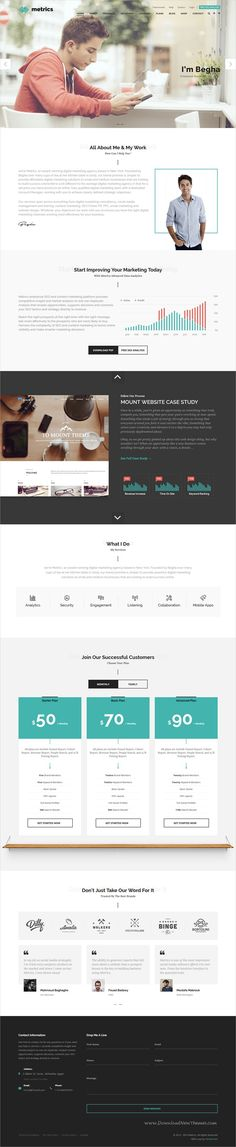 Metrics is clean and modern design 10in1 #bootstrap template for #SEO, #Marketing, Social media specialists and corporate website download now..