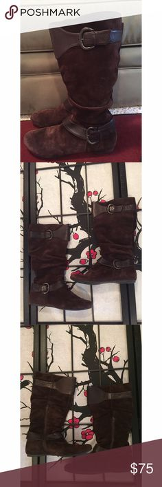 BOC Born Brown Suede Boots Measures 16in around the calf and from heel to top measures 15in. Size 10 BOC Born Brown Suede Boots. In gorgeous condition! Open to offers! Please no low balling! Born Shoes
