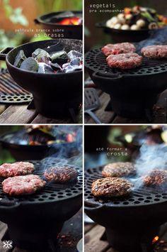 Hambúrguer na brasa - homemade hamburger
