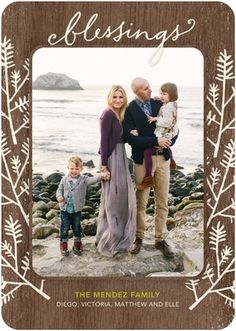 Branches and Blessings - Flat Holiday Photo Cards - Hallmark - Black : Front