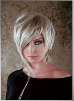 Asymmetrical haircut and wonderful color