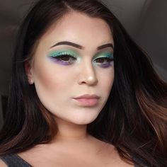 💚💙💜 Products:  FACE: #toofaced 'Born This Way' foundation  #RCMA translucent setting powder  #anastasiabeverlyhills Contour Kit in color Java and The Glow Kit in Sunburst #anastasiabeverlyhills Dip brow Pomade in dark brown  EYES: #morphe using the #35upalette  #Ofra Fix Line gel liner in black Use code PINNER for 30% off! https://www.ofracosmetics.com/collections/eyes/products/fixline-eyeliner-gel?variant=8788606531