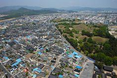 The Royal Tumulus Mounds of the ancient capital city of Gyeongju South Korea [OS] [40802720]