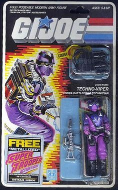 Techno-Viper (v1) G.I. Joe Action Figure. This is the only figure i remember having as a kid from the toyline.