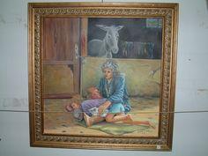 #yaşam  #mücadele #veren #bir #bayan #yağlı #boya