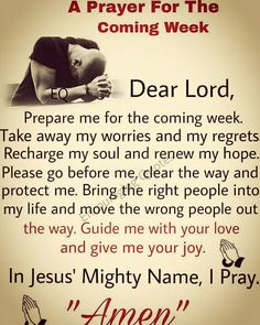 Prayer For The Coming Week