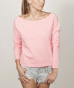 This Pink Boatneck Pullover is perfect! #zulilyfinds