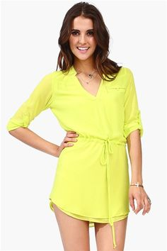 Great tunic styled dress - Lime Sadie Dress from Necessary Clothing. Get a 10% discount when you shop here: http://www.studentrate.com/itp/get-itp-student-deals/Necessary-Clothing-Student-Discount--/0