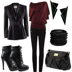 black. #womens fashion #fall fashion