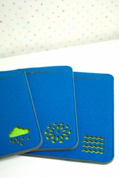 thick felt iPad case in petrol blue