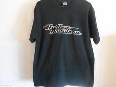 Harley Davidson T-Shirt Large Black Kansas City Mo Vehicle Powertrain Ops  6017 #HarleyDavidson