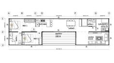 Sea container home floor plan