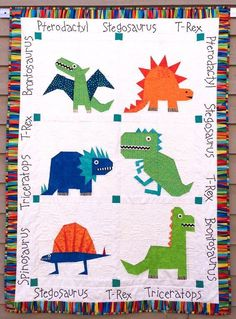 Looking for your next project? You're going to love Dinosaur Paper Pieced Quilt Pattern by designer Made By Marney.