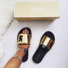 Micheal Kors Slide Sandals Authentic Slide Sandals from MK excellent condition Michael Kors Shoes Sandals