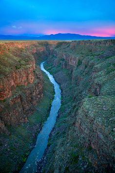 Taos New Mexico - Rio Grande Gorge.  We just hiked this to the hot springs at the bottom - it was amazing.  We plan to go every month from now on!