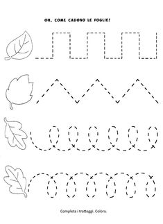 Preschool Tracing Pages Preschool Workbooks, Fall Preschool Activities, Preschool Writing, Numbers Preschool, Preschool Learning Activities, Homeschool Kindergarten, Kindergarten Worksheets, Preschool Crafts, Shape Activities