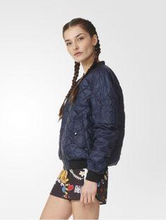 kurtka damska, bomberka, kurtka pikowana Bomber Jacket, Adidas, Jackets, Fashion, Down Jackets, Moda, Fashion Styles, Fashion Illustrations, Bomber Jackets