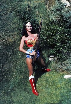 Lynda Carter as Wonder Woman.  I'm fairly certain I'm not the only one who wore aluminum foil bracelets.