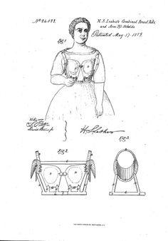 1859 bra patent by Henry Lesher
