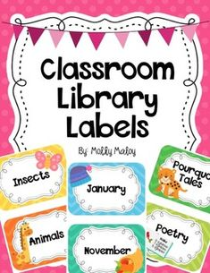 Download the preview to see a list of all the book basket labels that are included. There are labels for: Genres (These coordinate with my Colorful Genre Posters!) Series Favorite Authors Seasons & Months Subjects Holidays Social Studies topics Science topics Miscellaneous topics Also, you can see samples in the preview of some of the book labels that are included. Most labels come both with a picture and without, with the exception of favorite authors and series labels, which do not come…