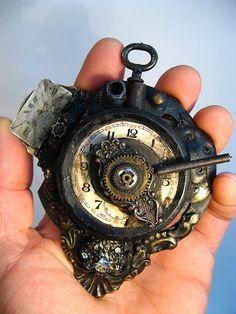 Steampunk timepiece.