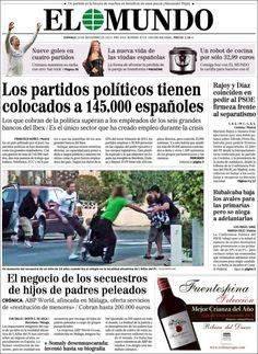 Los Titulares y Portadas de Noticias Destacadas Españolas del 10 de Noviembre de 2013 del Diario El Mundo ¿Que le pareció esta Portada de este Diario Español?