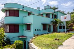 A Deco home that's pure Streamline Moderne is the Gonzalo Arostegui Residence at 14th Street @ 49c, Havana