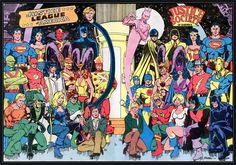 Justice League Comics, Comic Art, Comic Books, Alex Toth, John Romita Jr, Justice Society Of America, Comic Pictures, Comic Pics, George Perez