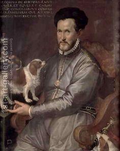 Bartolomeo Passarotti: Portrait of Count Sertorio King Charles Dog, King Charles Spaniel, Cavalier King Charles, Renaissance, Cavalier King Spaniel, Cute Dog Photos, Pet Pictures, Baroque Art, Italian Baroque