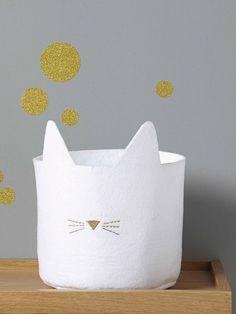 Cyrillus THIN FELT CAT BASKET - White