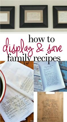 How to Display and Save Family Recipe Cards - Preserve family recipe cards with these meaningful kitchen projects that serve as a daily reminder of special family memories.