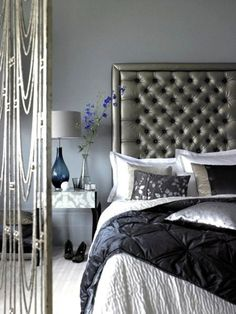 Varying gray tones brings an air of sophistication to this room
