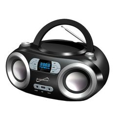 Portable Bluetooth Audio System-Black MP3/CDPlayer-Black
