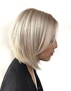 Bright Blonde Bob Haircuts 2018 for Women