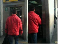 """Nuestra foto ciudadana del día: """"Uso indiscriminado de ascensores para discapacitados"""""""