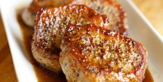 Apple Cider Pork Chops yummy These tasty apple cider pork chops are a five-ingredient main course that'll be on your table in just 30 minutes. Christmas and New Year Cake and Cuisine Recipes Pork Chop Recipes, Meat Recipes, Cooking Recipes, Dinner Recipes, Lunch Recipes, Recipies, Cooking Pork, Cider Pork Chops, Center Cut Pork Chops