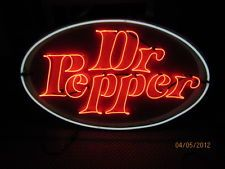 """New Dr. Pepper Painted Enamel Metal Neon Sign 48"""" W x 29""""H  100% Made in Am"""