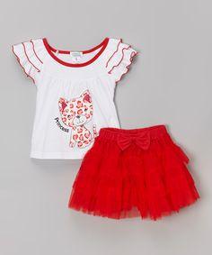 Love this Red Leopard 'Princess' Ruffle Tee & Tutu - Toddler & Girls on #zulily! #zulilyfinds
