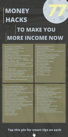 77 Legit and Smart Ways to Make Extra Money in 2020 - Luster Lexicon Ways To Earn Money, Earn Money From Home, Earn Money Online, Money Tips, Money Saving Tips, Way To Make Money, Money Hacks, Planning Budget, Budget Planer