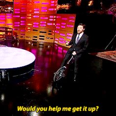 When he was hilariously, unnecessarily smutty while riding a unicycle on <i>The Graham Norton Show</i>.