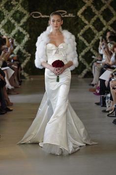 @kathyireland Weddings and Oscar de la Renta Bridal showing great style with Bridal fur accents !