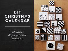 DIY christmas calendar - free printable template!