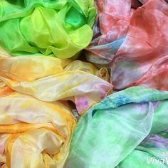 キレイ色タイダイベール入りました♪ #浜松  #ベリーダンス  #豊橋  #シルクベール #静岡  #bellydance  #silkveils